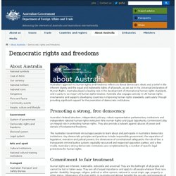 Democratic rights and freedoms - About Australia