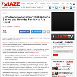 Democratic National Convention Bans Children from Convention Floor