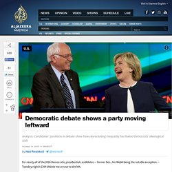 Democratic Debate Shows a Party Moving Leftward
