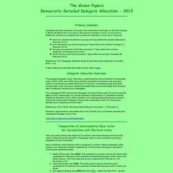 Democratic Detailed Delegate Allocation - 2012