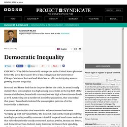 """Democratic Inequality"" by Raghuram Rajan"