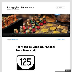 125 Ways To Make Your School More Democratic