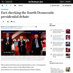 Fact checking the fourth Democratic presidential debate