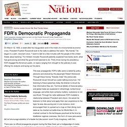 FDR's Democratic Propaganda