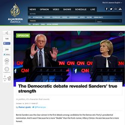 Democratic Debate Revealed Sanders' True Strength