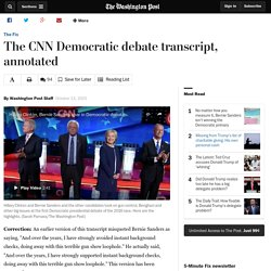 The CNN Democratic debate transcript, annotated