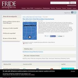 Diez años de la Carta Democrática Interamericana