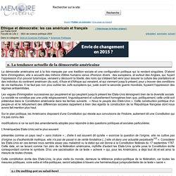 Ethique et démocratie: les cas américain et français - Pathé DIOP