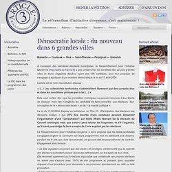 Démocratie locale : du nouveau dans 6 grandes villes - Article 3 — Association pour le référendum d'initiative citoyenne