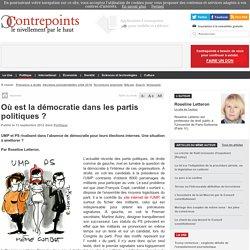 Où est la démocratie dans les partis politiques? - Contrepoints