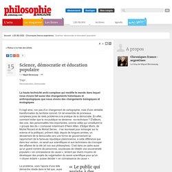 Science, démocratie et éducation populaire