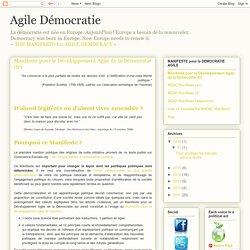 Agile Démocratie: Manifeste pour le Développement Agile de la Démocratie (fr)