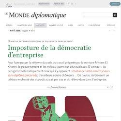 Imposture de la démocratie d'entreprise, par Sophie Béroud (Le Monde diplomatique, avril 2016)