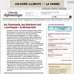 Au Venezuela, les électeurs ont « confisqué » la démocratie, par Maurice Lemoine