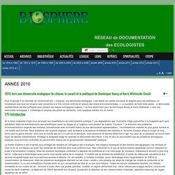 2010 Vers une démocratie écologique (le citoyen, le savant et le politique) de Dominique Bourg et Kerry Whiteside (Seuil)