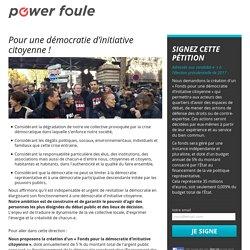 Pour une démocratie d'initiative citoyenne !