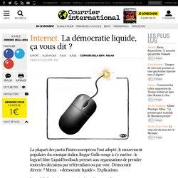 La démocratie liquide, ça vous dit ?