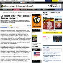 La social-démocratie comme dernier rempart