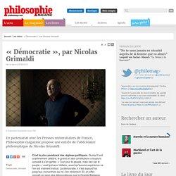 «Démocratie», par Nicolas Grimaldi