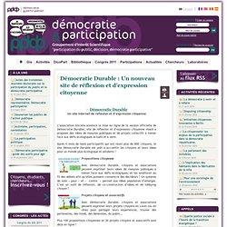 DEMOCRATIE DURABLE : site de réflexion et d'expression citoyenne