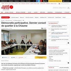 Démocratie participative. Dernier conseil de quartier à la Chaume