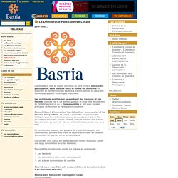 Démocratie participative locale - Bastia