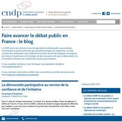 La démocratie participative au service de la confiance et de l'initiative