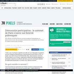 Démocratie participative: le sommet de Paris s'ouvre sur fond de polémiques