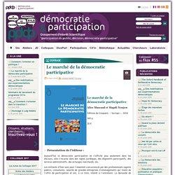 Le marché de la démocratie participative