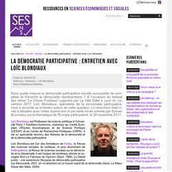 La démocratie participative : entretien avec Loïc Blondiaux