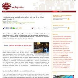 La démocratie participative absorbée par le système politique local