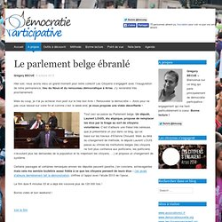 Le parlement belge ébranlé