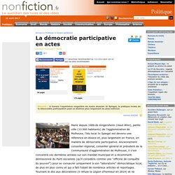 La démocratie participative en actes