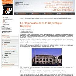La Démocratie dans la République Romaine