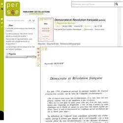 Démocratie et Révolution française