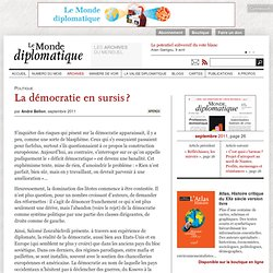 La démocratie en sursis ?, par André Bellon