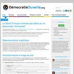 """Le Sénat Français cherche des idées sur la démocratie """"territoriale"""""""