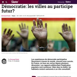Démocratie: les villes au participe futur?
