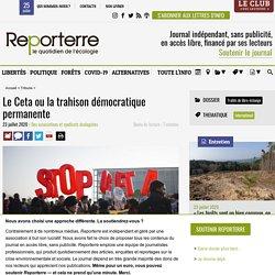 Le Ceta ou la trahison démocratique permanente Le 23 juillet 2020