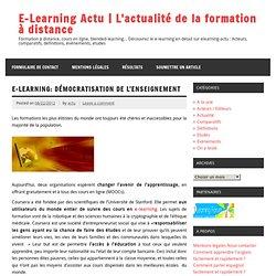 Coursera et EdX: Démocratisation de l'enseignement