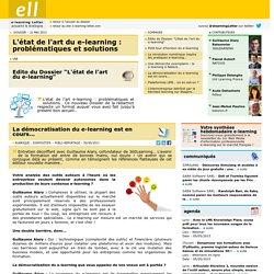 La démocratisation du e-learning est en cours...