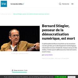 Hommage à Bernard Stiegler, penseur de la démocratisation numérique
