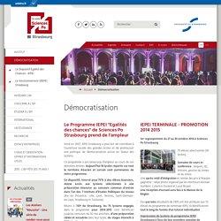 Démocratisation-Sciences Po Strasbourg - Institut d'études politiques - Université de Strasbourg