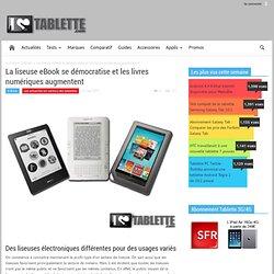 La liseuse eBook se démocratise et les livres numériques augmentent