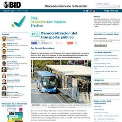 Democratización del transporte público