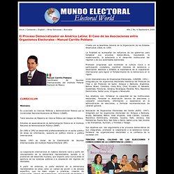 El Proceso Democratizador en América Latina: El Caso de las Asociaciones entre Organismos Electorales - Manuel Carrillo Poblano