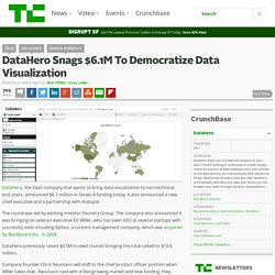 DataHero Snags $6.1M To Democratize Data Visualization