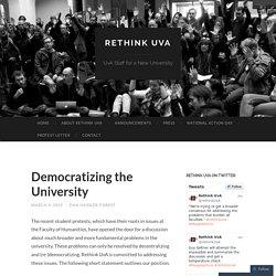 Democratizing the University