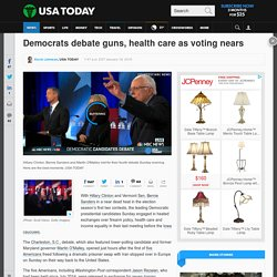Democrats debate guns, health care as voting nears
