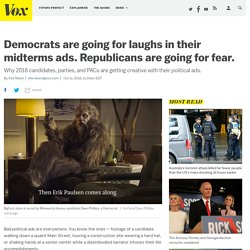 Dems going for laughs in political ads. GOP going for fear.